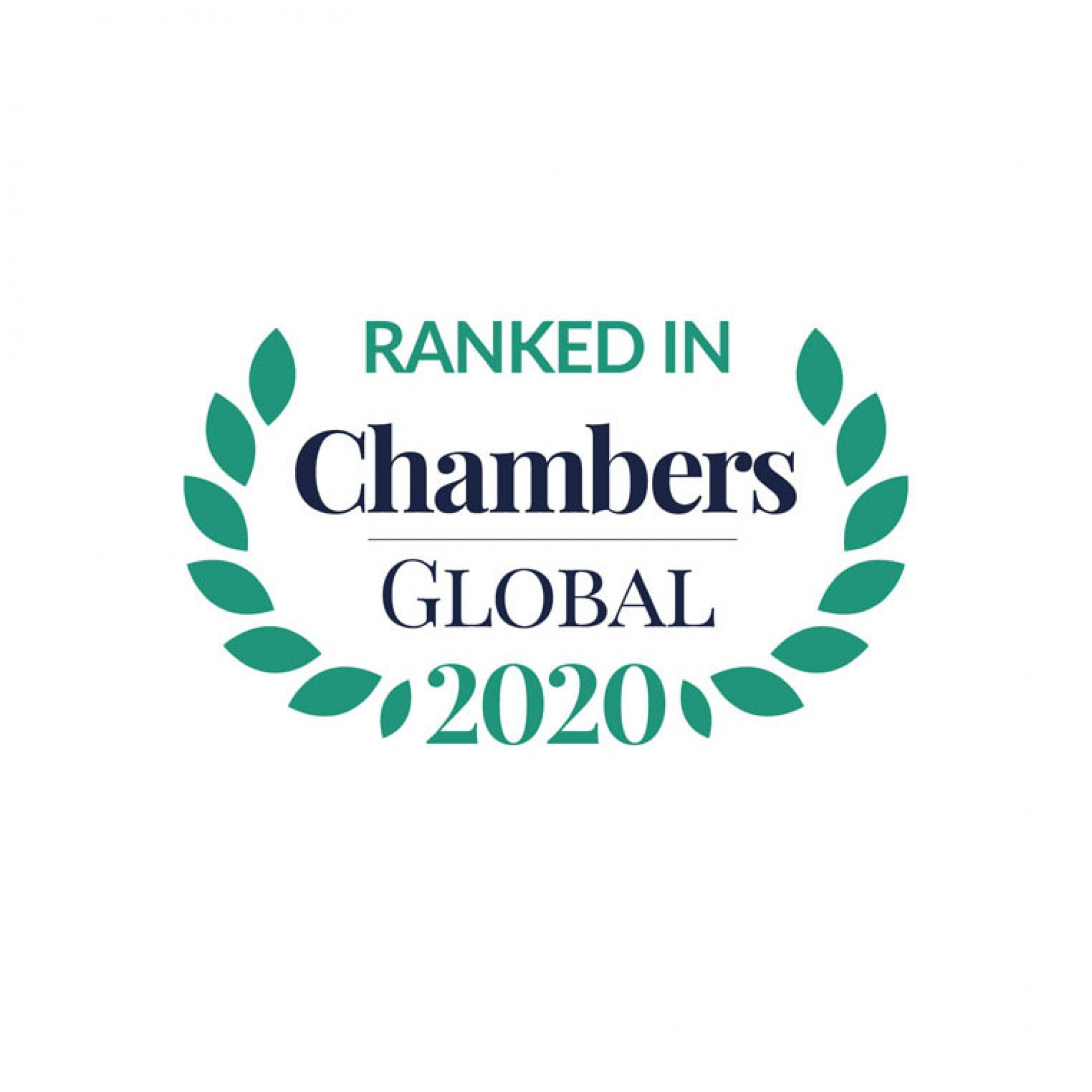 RANKED IN CHAMBERS GLOBAL 2020