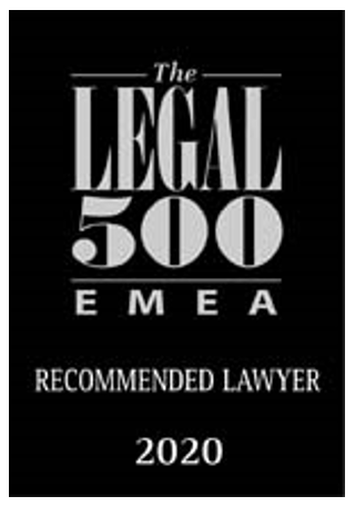 The LEGAL 500 EMEA Recommended lawyer 2020